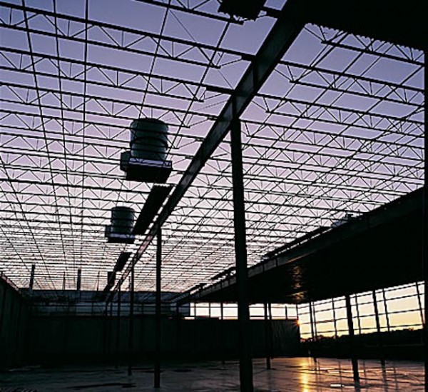 Plant open ceiling at dusk